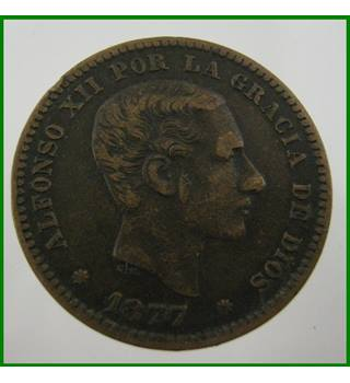 Spain - 5 Cents - 1877
