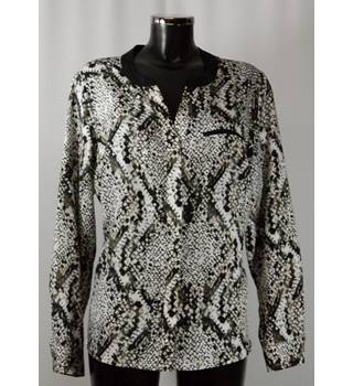 Worthington Blouse - Snakeskin Pattern - Size XL Worthington - Size: XL - Multi-coloured