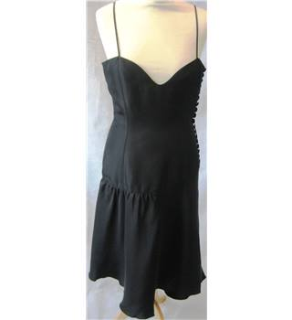 BNWT Emporio Armani size 10 black silk cocktail dress