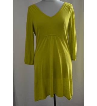 Boden: Size 12, Lime Yellow Dress Boden - Size: 12 - Yellow - Knee length dress