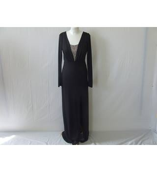 50% OFF SALE Little Mistress by Minnies of London, Elegant Black Maxi Party Dress Minnies - Size: 10 - Black - Cocktail dress