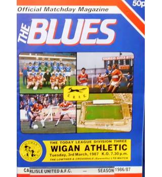 Carlisle United v Wigan Athletic - Division 3 - 3rd March 1987