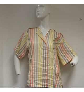 Striped Silk Shirt Genny - Size: 8 - Multi-coloured - Short sleeved shirt