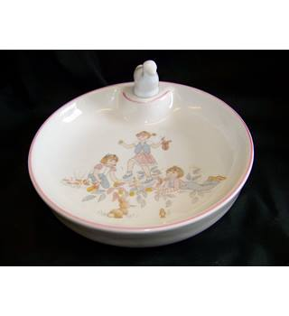 Vintage baby's food warming dish Lys Royal