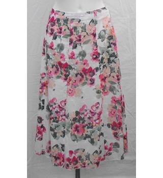M&S Classic  multicoloured panelled skirt Size 14