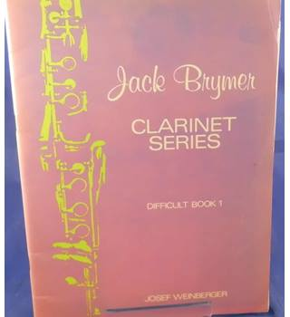 Jack Bryner Clarinet series - Difficult Book 1