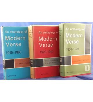 An Anthology of Modern Verse - 3 Volumes (1900-1960)
