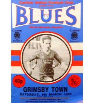Carlisle United v Grimsby Town - Division 2 - 9th March 1985