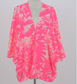 BNWT New Look size: 14 neon pink tropical beach kimono