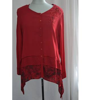 Brand New 80's Roman Originals: Size 14, Red Top Roman Originals - Size: 14 - Red - Blouse