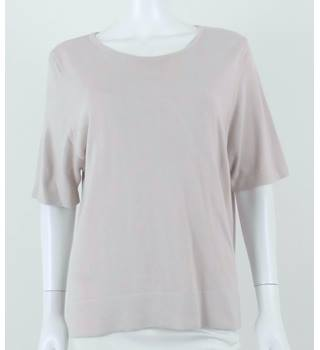 Marks & Spencer Size 18 Stone Short Sleeved Sweater