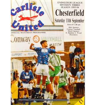 Carlisle United v Chesterfield - Division 3 - 11th September 1993