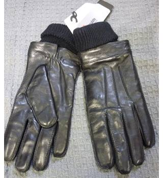 M&S Men`s Black leather gloves BNWT M&S Marks & Spencer - Size: S - Black - Gloves