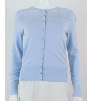 M&S Marks & Spencer Size 8 Blue Cardigan