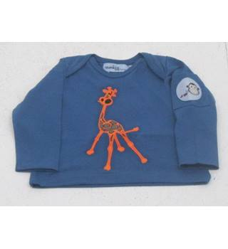 BNWT Monkey & Bob, age 3-6 months blue giraffe long sleeved T-shirt