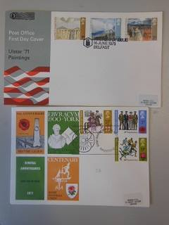 GB 1971 Ulster Paintings & General Anniversaries FDCs special cancels