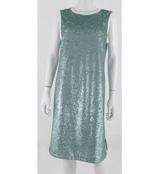 Marks & Spencer Size 14 Mint Sequinned Dress