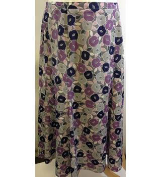 Eastex - Purple floral skirt - One Size