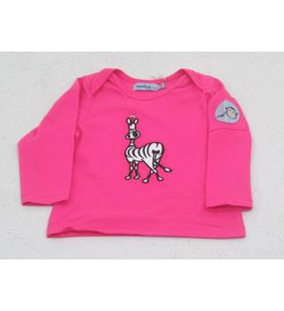 BNWT Monkey & Bob, age 3-6 months pink applique zebra long sleeved T-shirt