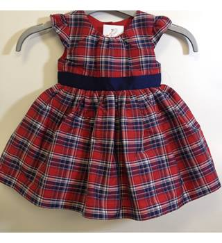 Mothercare - Checkered red dress - 6-9 MONTHS