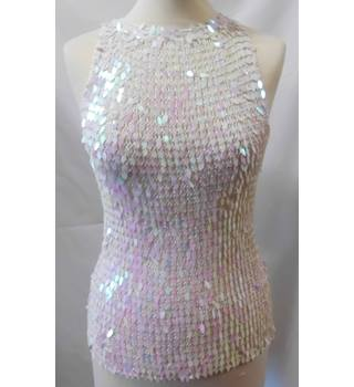Unbranded - Size S - Mesh sequin sleeveless top
