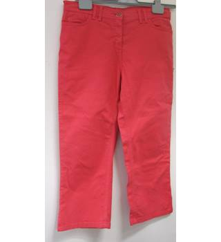 "Pink Stretch Cotton stretch trousers Per Una Size 12 Women's  - Size: 22"" - Pink"