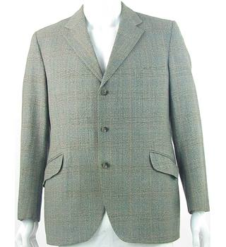 "VINTAGE Henry Taylor - Size: L/42"" - Green, Beige, Black, Orange, Blue - Single Breasted Suit Jacket"