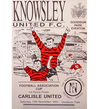 Knowsley United v Carlisle United - FA Cup 1st Round - 13th November 1993