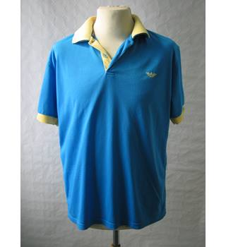 Giorgio Armani blue and yellow T shirt size XL