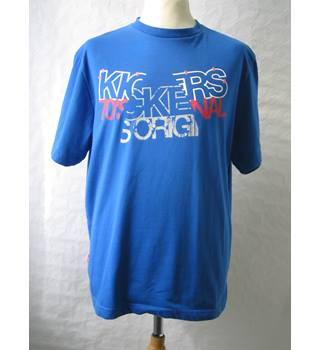 Men's Kickers Blue Short Sleeved T Shirt Kickers - Size: L