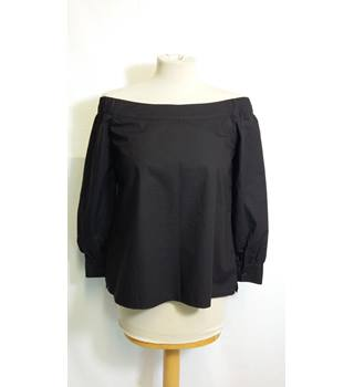 Black bardot shirt top size 8 by New Look New Look - Size: 8 - Black