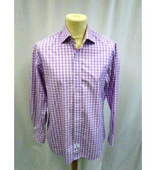 Emmett of London Check Shirt - Size: L - Mauve - Long sleeved - Shirt