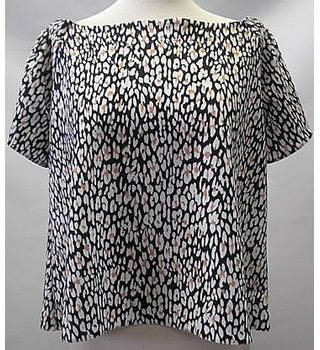 Per una size:10 black white and brown bardot top