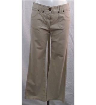 M&S - Size 10 (S) - stone coloured - trousers