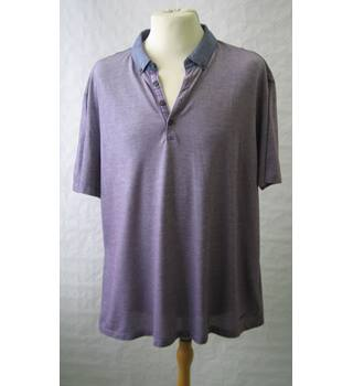 Men's M and S Autograph Purple Polo- Shirt  Size: XL