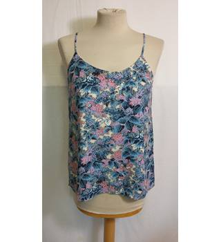 Floral vest top size 10 by Oasis Oasis - Size: 10 - Multi-coloured