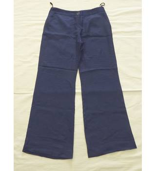 BNWT - M&S Autograph - Size 12 - Dark Blue - Trousers