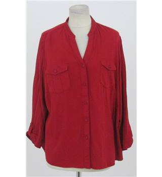 M&S size: 16 red long sleeved shirt