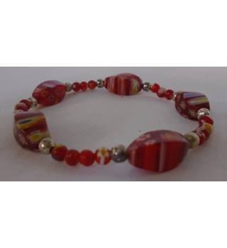 Unbranded - Size: Medium - Red - Patterned - Bracelet