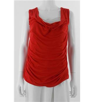 Phase Eight Size: 14 Bright Red Draped Top