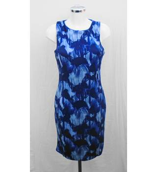 H&M blue patterned bodycon dress Size M
