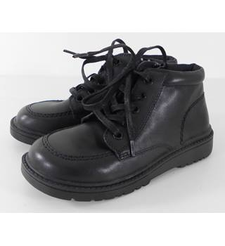 M&S UK12 Children's Black Leather Boots