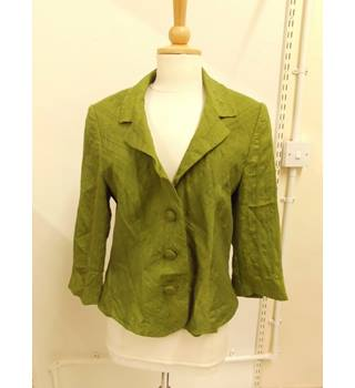 WOMENS Alex & Co green jacket with embroidered geometric print - size 12 Alex & Co - Size: 12 - Green - Casual jacket / coat