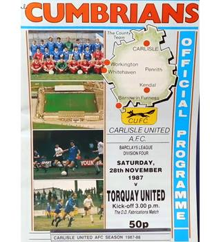 Carlisle United v Torquay United - Division 4 - 28th November 1987