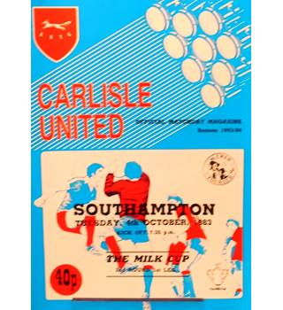 Carlisle United v Southampton - League Cup 2nd Round 1st Leg - 4th October 1983