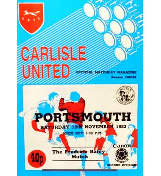 Carlisle United v Portsmouth - Division 2 - 12th November 1983