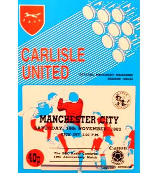 Carlisle United v Manchester City - Division 2 - 19th November 1983