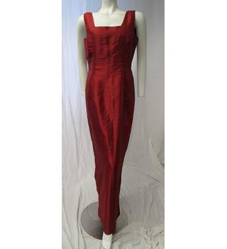 Unbranded Size M Red Silk Dress Unbranded - Size: M - Red