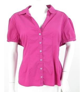 Laura Ashley - Size: 20 - Pink - Short Sleeved Blouse