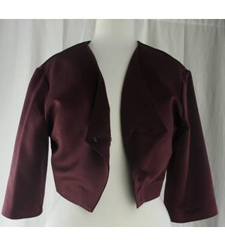M&S Limited Edition Maroon Bolero Jacket - Size: 12 - BNWT